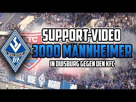 Stimmungsvideo: 3000 Mannheimer gegen Uerdingen (KFC Uerdingen 1:0 SV Waldhof Mannheim, 24.05.18)