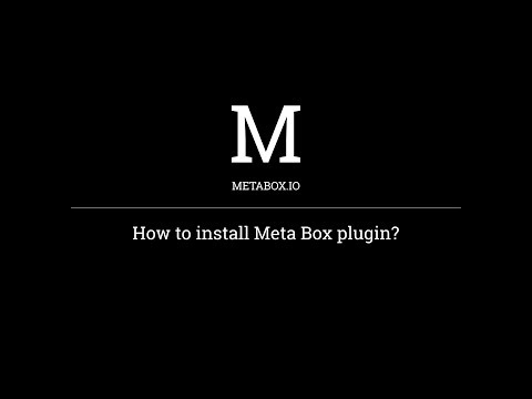 How to install Meta Box plugin in WordPress | Meta Box Tutorials