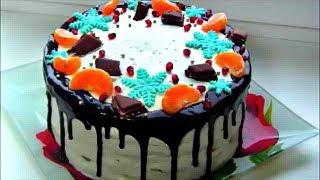 """Торт  """" Молочная Девочка """" / Нежный торт на сгущенке со сливочно - йогуртовым кремом"""