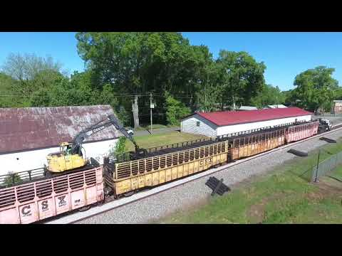 Trains and Track Work on CSX at Adairsville