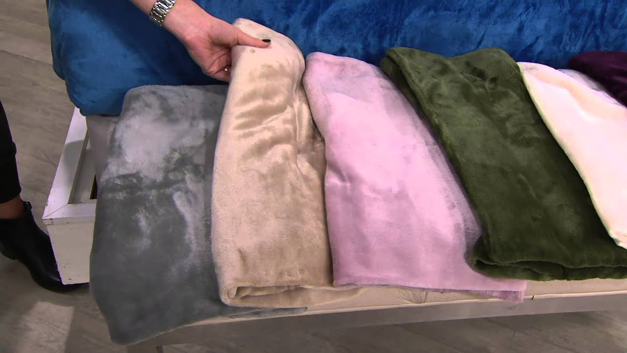berkshire blanket velvet soft cozy sheet set on qvc - youtube