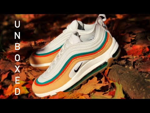 """UNBOXING: Nike Air Max 97 Golf NRG """"Rather Lucky, Than Good"""" (Masters 2020) Nike Golf Shoes"""