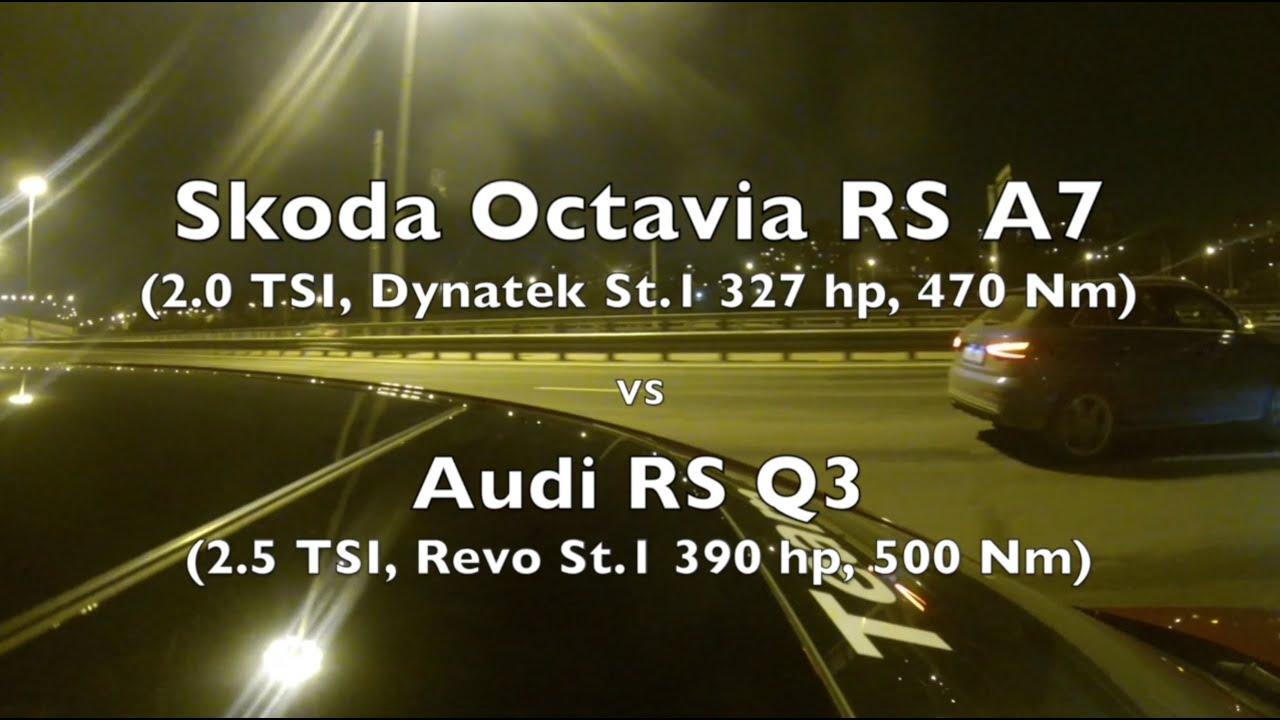 skoda octavia rs vs audi rs q3