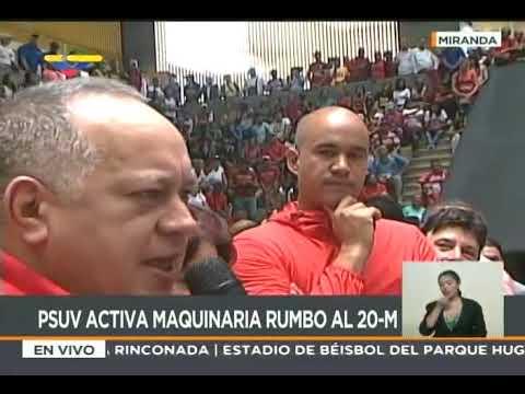 Diosdado Cabello y Héctor Rodríguez juramentan Comando Simón Bolívar del estado Miranda
