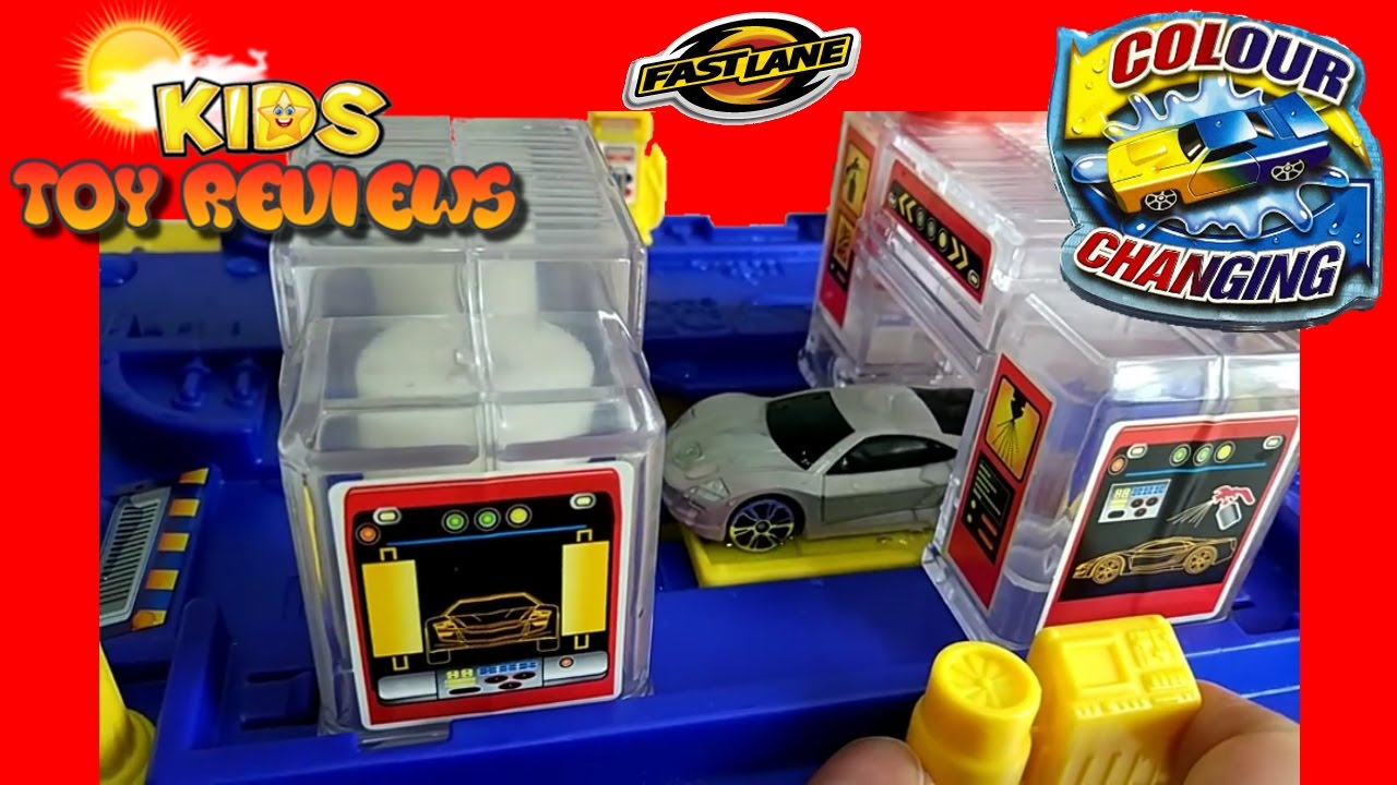 Fast Lane Motors >> Fast Lane Colour Change Station Car Wash Unboxing Playtime Fastlane Toy Cars Kids Toy Reviews