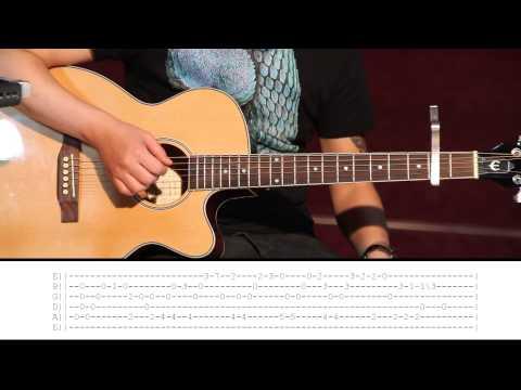 Daavka - ABBA Happy New Year (Guitar Lesson Part 1) Tutorial