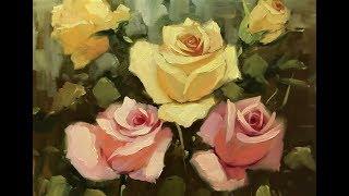 🔝 ХуДоЖнИкИ Картина маслом / Красивые Цветы / Розы / Вугар Мамедов