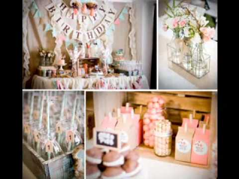 DIY 1st birthday party decorating ideas for girls YouTube