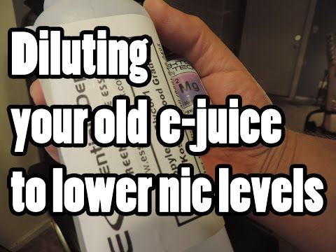 Diluting your E-juice to lower nicotine levels without sacrificing flavor