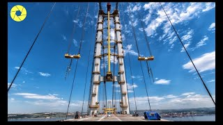 Suspension Bridge Construction From Start To Finish   Production Process Of Suspension Bridge