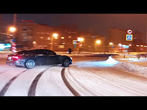Audi RS7. Снежный дрифт король. Snow Drift king. (Vlog #5)