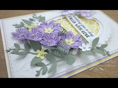 Lilac and Lemon Card & Box - Complete card and Box Die Set