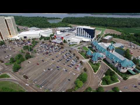 Horseshoe Casino and Roadhouse Casino - Tunica, MS - 4k Drone flight