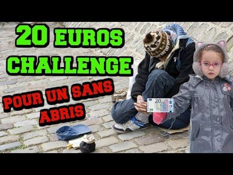 20 euros challenge 💶 pour un monsieur sans abris