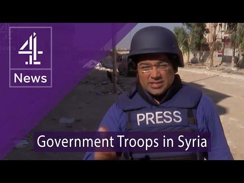 Inside Aleppo: Krishnan Guru-Murthy talks to government troops