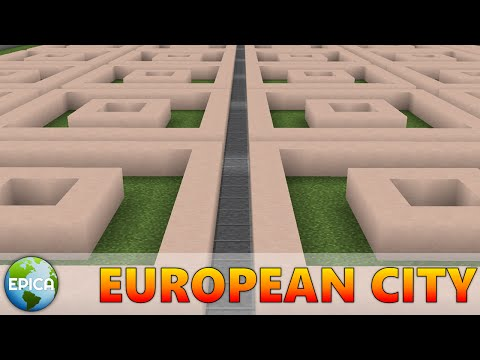 BUILDING A EUROPEAN CITY IN MINECRAFT! (Part 1)