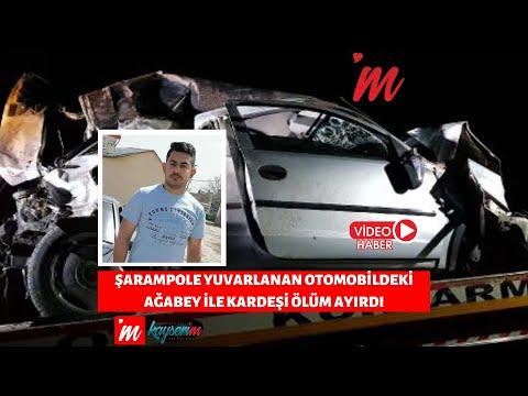 Şarampole yuvarlanan otomobildeki ağabey ile kardeşi ölüm ayırdı