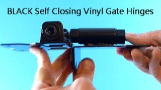 Black Self Closing Vinyl Gate Hinges