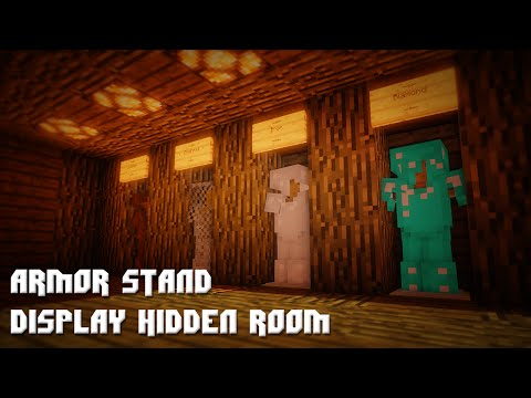 Minecraft: Armor Stand Display Hidden Room