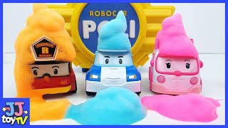 Robocar Poli & Friends Color Bubble Play. Car Toy Video For Kids. [Jjtoy Tv]