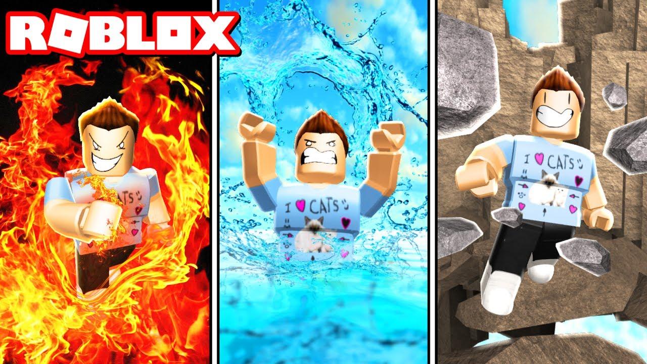 earth wind fire elemental powers in roblox youtube
