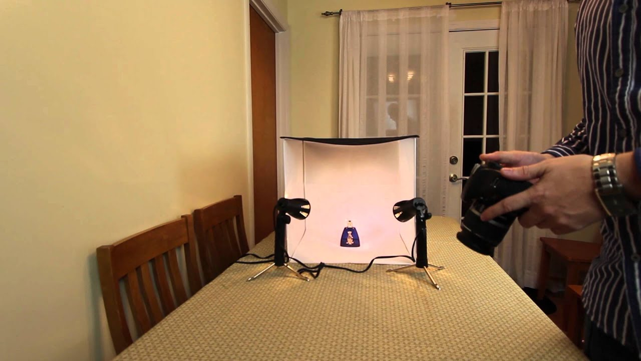 review and walk through of mini portable photo studio youtube