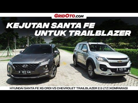 Duel Big SUV Hyundai Santa Fe XG VS Chevrolet Trailblazer LTZ | Komparasi | GridOto