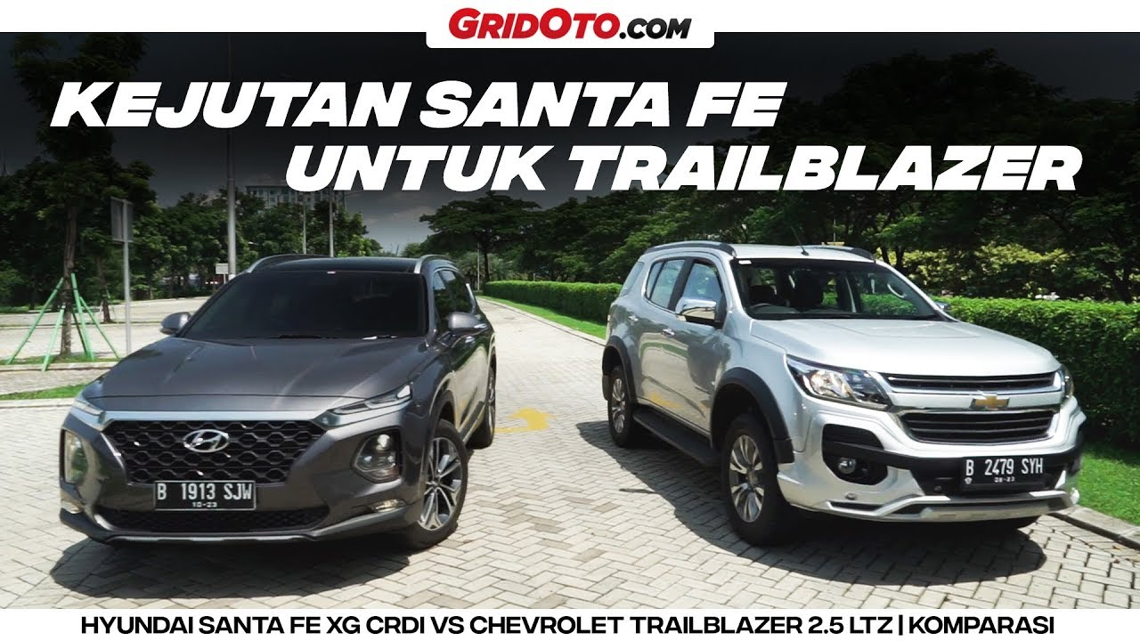 Santa Fe Suv >> Duel Big Suv Hyundai Santa Fe Xg Vs Chevrolet Trailblazer Ltz Komparasi Gridoto
