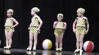Itsy Bitsy Teeny Weeny Yellow Polka Dot Bikini--adorable dance recital