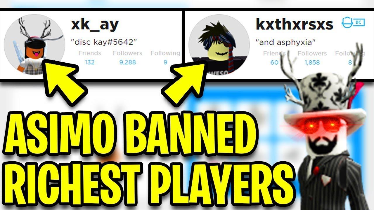 Asimo3089 Banned The Richest Jailbreak Players Jailbreak