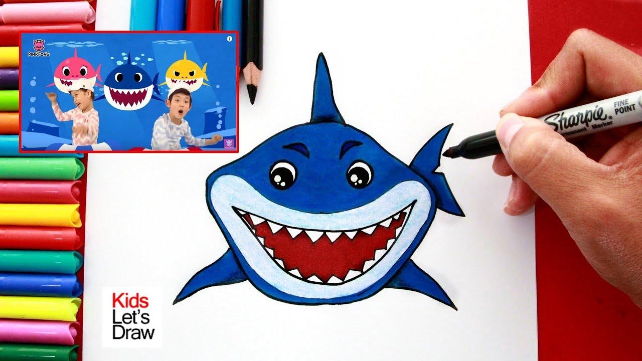Aprende A Dibujar Al Tiburon De La Cancion Baby Shark How To