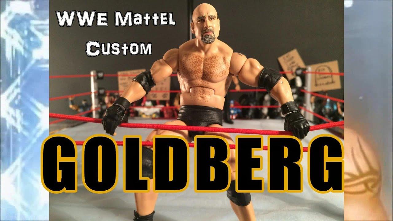 Goldberg wwe mattel elite custom action figure youtube for Custom elite com