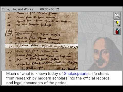The Time, Life and Works of William Shakespeare Part 1