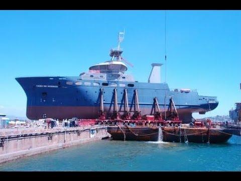 Mammoet Salvage - Cabo de Hornos refloat operation