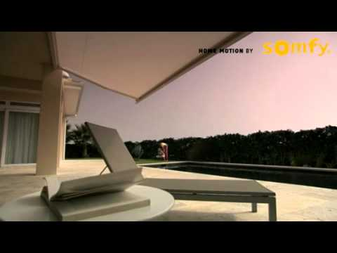 Awning with Somfy Motor - YouTube