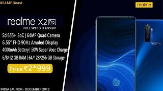 Realme X2 Pro India Launch Date | Specs | Price   Snapdragon 855 , 64mp Quad Camera, 50w Vooc Charge