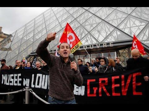 فرنسا: عمال مضربون يغلقون متحف اللوفر احتجاجا على إصلاح أنظمة التقاعد  - 11:00-2020 / 1 / 18