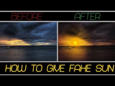 Photoshop Tutorial  Fake Sun Effect thumbnail