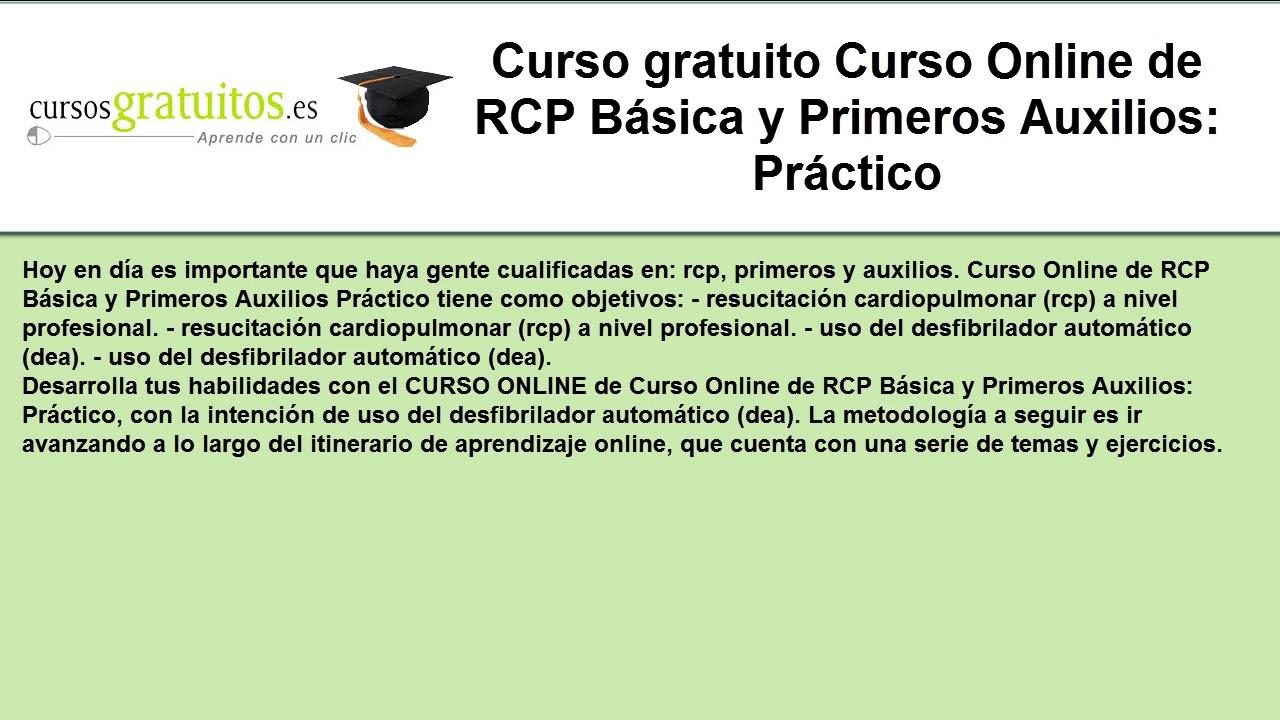 Curso de rcp gratis online