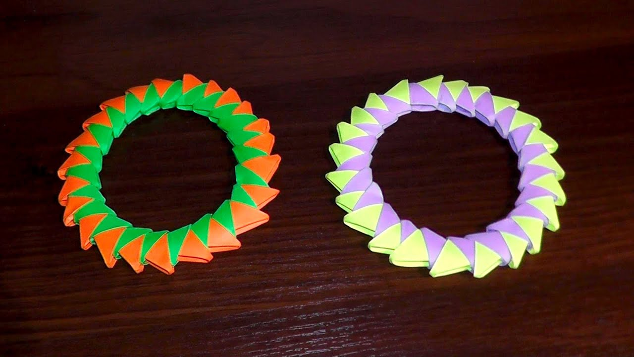 3d Origami Circle Ring Assembly Diagram Tutorial Instructions