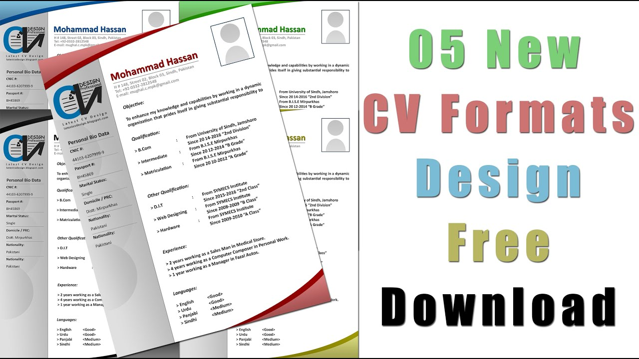 latest cv formats design 05 cv formats cv formats youtube