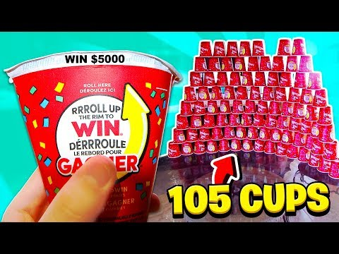 I Rolled 105 TIM HORTON'S *JACKPOT* Cups! (WE WON!)