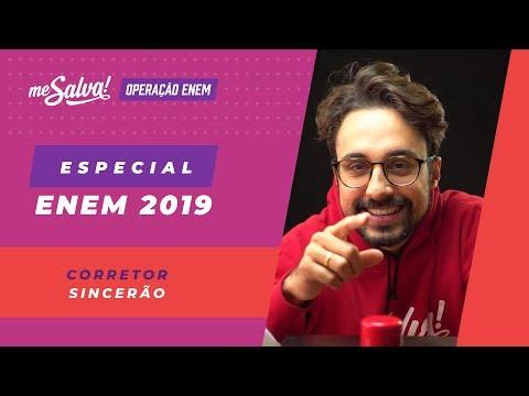📙 OPERAÇÃO ENEM 2019: Especial Corretor Sincerão Com Part. Prof Vinícius Oliveira