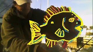 Big Bluegill Fishing Fried Chicken VS Broiled Hotdog chunks