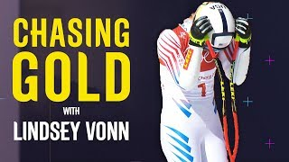 Lindsey Vonn Suffers Super-G Dejection | Chasing Gold | Pyeongchang 2018 | Eurosport