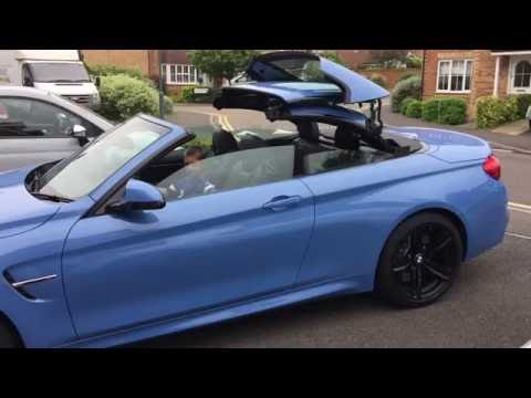 BMW M4 Convertible Roof Demo