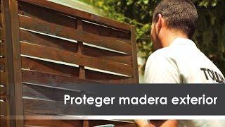 Madera pintura exteriores