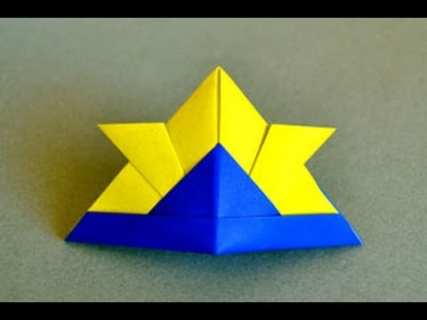 Origami Samurai Hat Instructions Origami Fun Youtube