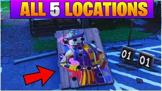 """Get a Score of 10 or more on Different Carnival Clown Boards"" Fortnite ALL Clown Board Locations"