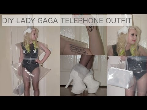 DIY // DIY LADY GAGA TELEPHONE OUTFIT FANCYDRESS / HALLOWEEN COSTUME